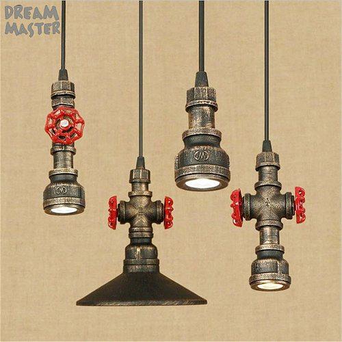 LED Pendant Lights Dining Room vintage Pendant Lamps industrial Restaurant Coffee bar rustic hanging Lighting led Iron lamp
