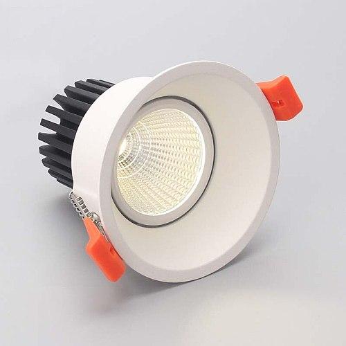 LED downlight 12w COB Ultrabright 7w led spot light for living room Black Embedded ceiling lamp round light Anti-glare AC85-265V