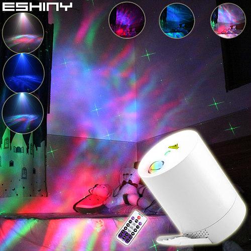 ESHINY Laser RGB LED Galaxy Aurora Night Light For Kids Big Stars Sky Projector USB Nebula Bedroom Beside Lamp Child Gift B205N7
