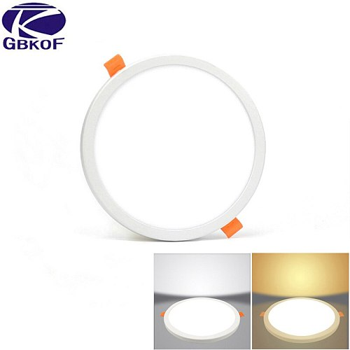 LED Panel Light Round Ultra Thin LED Downlight AC220V 6W 8W 15W 20W LED Ceiling Recessed Light For Indoor Bathroom Illuminate