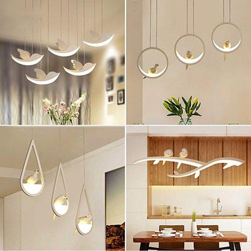 Minimalism Art Modern LED Pendant Lights for Dining Kitchen Room Living Room Hanging Suspension Pendant Lamp