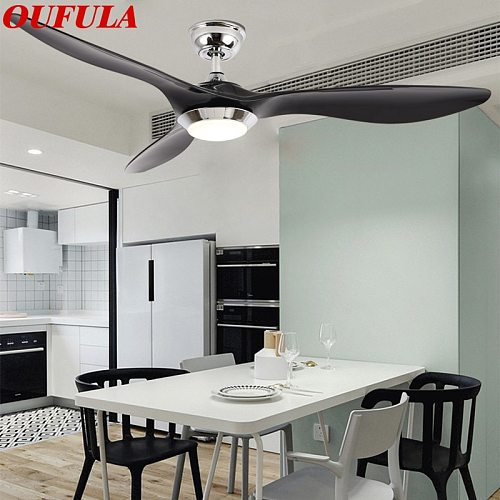 OUFULA Modern Ceiling Fan Lights Lamps Remote Control Contemporary Fashionable Decorative For Dining Room Bedroom