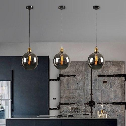 Nordic Vintage Pendant Lights Industrial Glass Hanglamp For Dining Room Bar Decor Retro Luminaire Suspension Kitchen Fixtures