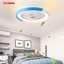 European creative design 50cm remote control fan Bluetooth lamp intelligent ceiling fan modern lamp bedroom decorative lamp