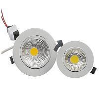 5W 7W 9W 12W COB Dimmable LED Downlight 85-265V Recessed LED Spot Light Ceiling Lamp Light for Indoor Lighting White Body