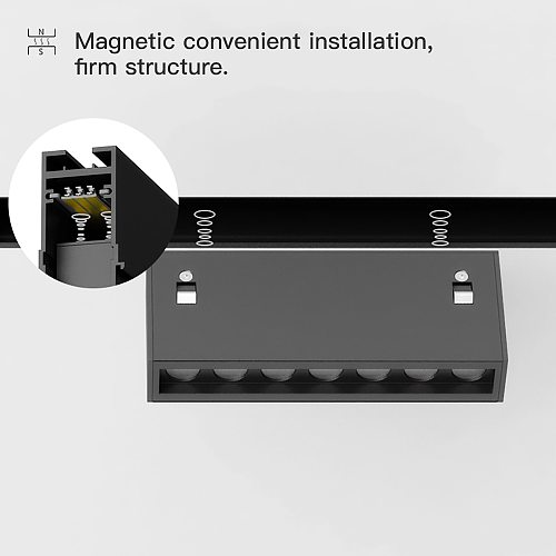 MR.XRZ LED Recessed Magnet Track Lights DC 24V 8W 10W 14W 28W Led Lamps Magnetic Rail Ceiling System For Indoor Track Lighting