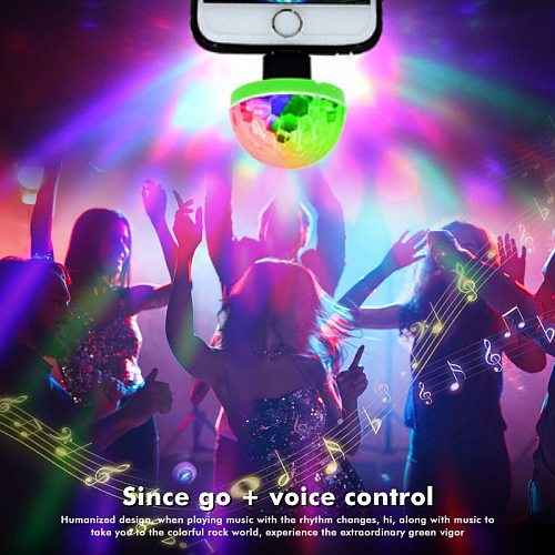 Mini Portable USB Stage Disco Lights Family Reunion Magic Ball Light Party Bar Club Stage USB Light Effect Lamp For Mobile Phone
