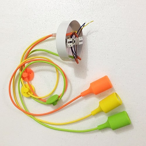 DIY 3/4/6/8/10/12 Heads Chandeliers Colorful Indoor Dining Room Living Room Silica Gel Decoration Lighting Lamp