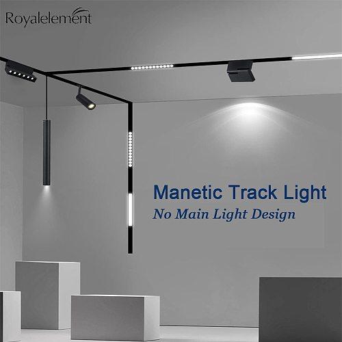 Magnetic Fixture 1M Track Rail Connectors Ceiling Recessed Suspended LED Track Lighting Magnet Mount Lights Rail Strip Holder