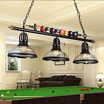 American Vintage Pendant Lights Billiards Retro Wrought Iron Dining Room Kitchen Light Loft Lustre E27 Edison Bulbs Pendant Lamp
