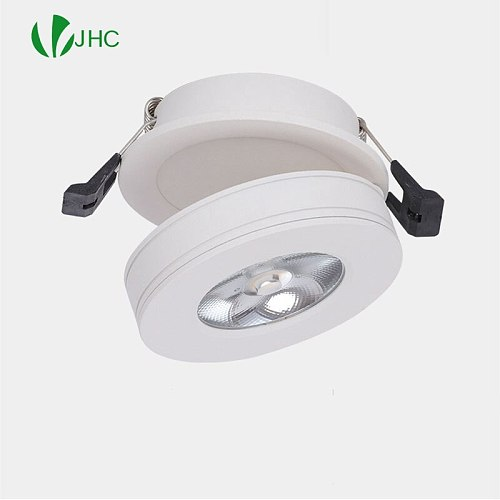 Mini LED Black White Downlight 5W 7W 10W 12W Spot Light ac85-265V Warm/Cold White LED Foldable Recessed Down Light Ceiling Lamp