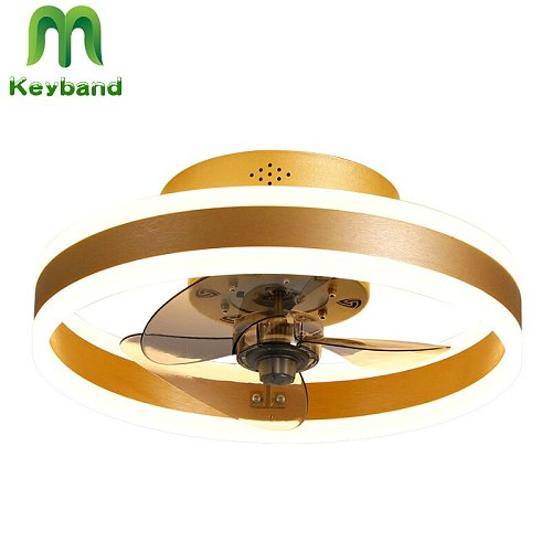 Fans Ceiling Light 48W Lamp Stepless Color Change 0-100 Dimming  Speeds Adjustable Variable Frequency DC Motor