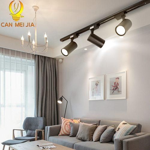 Led Track Lights Lamp 220V COB Track Lighting Fixture 12/20/30/40W Spotlights Rail Spots Light Lamps for shop Home Kitchen