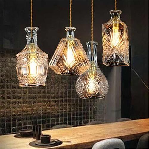 Vintage Decanter Bottle Light Chandelier Lamp Fixture Restaurant Cafe Art Hanging Lamps Home Ceiling Decoration