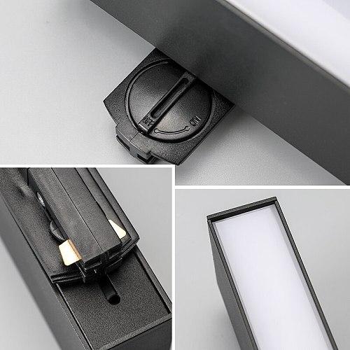 LED Track Spotlight For Shop Supermarket Commercial AC85-265V 2 Wire Rail Line  Flood Light Linear Lamp
