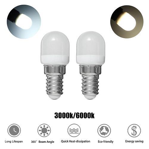E14 2W 220V Mini LED Light Bulb Durable Energy-saving T22 Bulb White Warm White Indicator Energy Saving Lamp Refrigerator Light