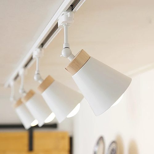 CETENT LED Track Light with E27 Rail Spotlights Lamp Tracking LED Fixture Spot Lights Bulb Fixtures for Clothing Store