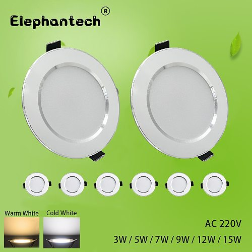 LED Downlight 3W 5W 7W 9W 12W  15W Ceiling Round Recessed Lamp AC220V New type Downlight spot LED Spot Lighting
