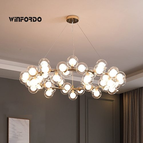 2021 Modern LED Bubble Chandelier Lighting  for Luxury Living Dining Room Luminaire With G4 Led