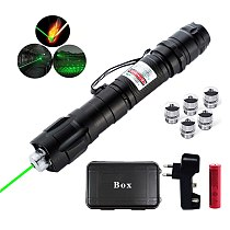 Laser 303 High Power 532nm Green Laser Pointer Pen Continuous Line 5000 Meters Flashlight with Laser Head+Battery+charger