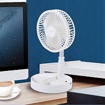 Folding Pedestal Stand Fan Mini Telescopic Remot Control Fan USB Rechargeable Table Floor Fan 4 Speeds Adjustable Height A6HB