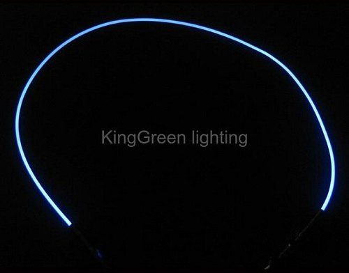 20mX 2mm flexible transparent solid core side glow light plastic fiber optic cable free shipping