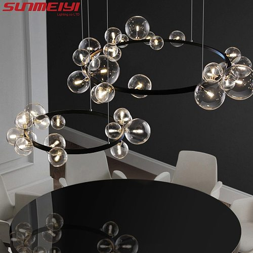 Minimalist Led Pendant Lights For Dining room Kitchen Nordic Hanging Lamp Industrial Bar Glass Living room decor lampara techo