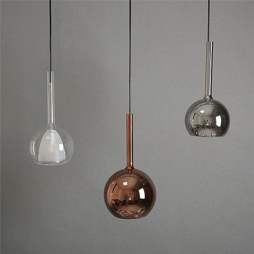 Nordic LED glass pendant light fixtures indoor Lighting modern bar Bedroom Living Room art Decor Hanging Lamp Home Luminaire