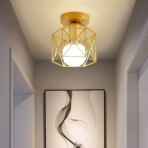 Nordic Minimalism Gold Shade home decoration  ceiling lights Metal Household Accessories ceiling Lmap lamp