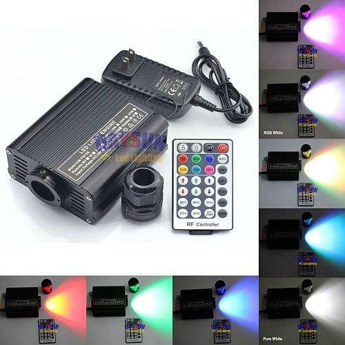 2017 HOT LED Fiber Optic Cable Light RGBW Ceiling Light Engine + 28 Keys Remote Colorful Light Source for Ceiling Stars