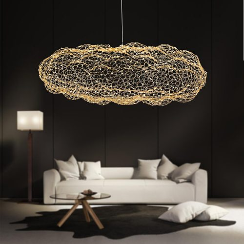 modern creative cloud light fixtures led pendant lamp starry personality hotel restaurant bar designer firefly moderne lustre