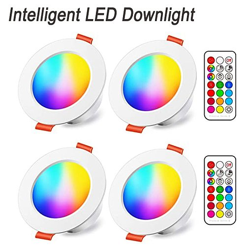 Smart LED Downlight  Dimmable Spot 5W 10W Recessed Ceiling Round Plafond Light 12V RGB Color Changing Ceiling Lamp Track Light