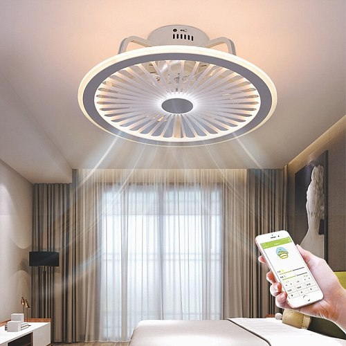Remote control LED ceiling fan modern lamp with lamp remote control fan 50cm bedroom decoration application accessories