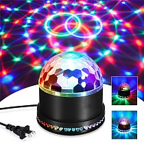 Mini RGB 5W Crystal Magic Ball Led Stage Lamp Sound Actived Auto DJ KTV Disco Laser Stage Effect Light Party Christmas Lights
