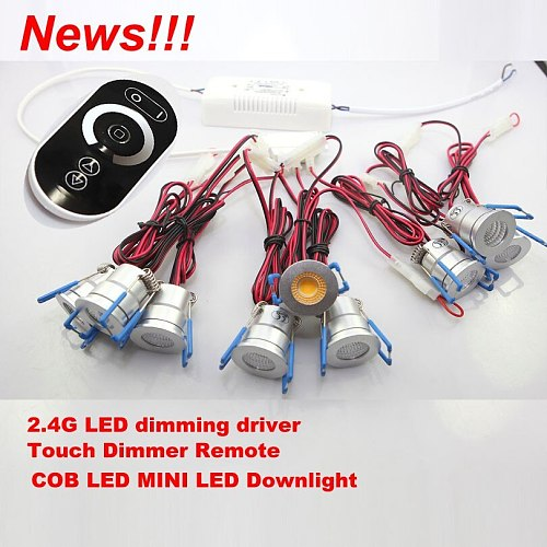 Mini 3W COB LED Indoor Lighting CE&RoHS LED Recessed Downlights Dimmable AC110V 220V Cabinet Lamps Included Driver and Dimmer