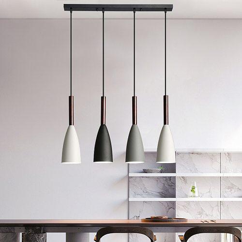 Modern 3/6 Pendant Lighting Nordic Minimalist Bar Pendant Lights kitchen island hanging lamps dining room Living Room lights E27