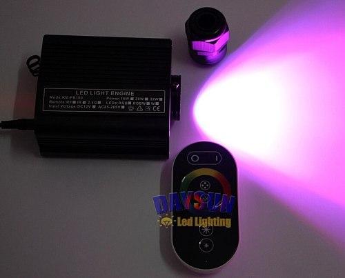 16W RGB LED Fiber Optic Light Engine Touch Remote Control DIY Home Hotel Spa KTV Decor Light Source for All Kinds of Fiber Cable