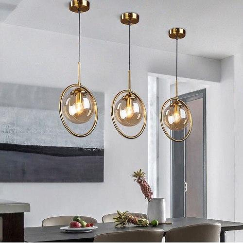 Modern LED Pendant Lights Simple Glass Pendant Lamps Indoor Lighting Living Room Nordic Hanging Lamps Home Decor Light Fixtures