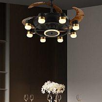 Nordic bedroom fan lamp modern household mute ultra-thin restaurant inverter ceiling fan lamp