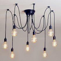 Pendant Lights DIY Art Spider Ceiling Lamp Fixture Light Hanging Mordern Nordic Retro Vintage Loft Antique Hanging Kitchen