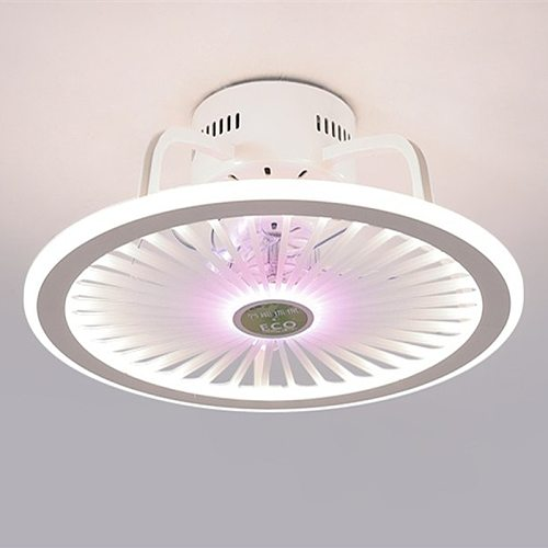 Modern Bedroom Led Smart Ceiling Fan Light Creative Study Diningroom 3 Colors Fan Light With Remote Control