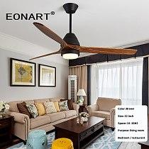 52 inch solid wood led ceiling fan with lamp remote control decorative ceiling fans for home dc100-240V motor ventilador techo