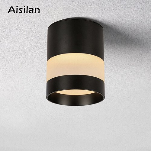 Aisilan LED Downlight  Surface mounted ceiling downlight, black, whiteor golden soft light led spot lights Ceiling Fixtures