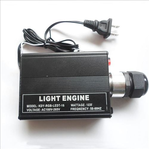 1X High quality AC110-265V 16W RGB fiber optic light engine with 24key IR remote controller free shipping