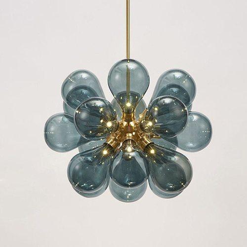 Nordic Glass Bubbles Parlor Led Pendant Light Loft Deco Hotel Hall Bedroom Dining Room Suspension Lamp