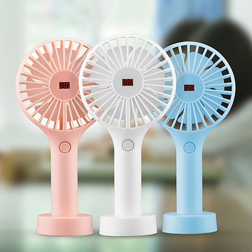 USB Rechargeable Cooling Fan Hand-held Portable Mini Fan 1200mAh Battery Adjustable Wind Speed Air Cooler For Home Office Summer