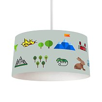 Animalway 2 Printing Patterned Kids Baby Room Bedroom Light Pendant Lamp Chandelier