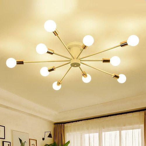 American barn industrial style mid century modern Chandelier Edison lighting Spider Ceiling Lamp Semi Flush mount light fixture