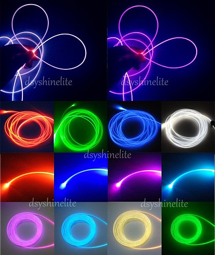 Free Ship Optic PMMA Fiber Cable All Kinds of Sizes 1.5mm to 10mm Side Emitting Guiding Light Edge Lighting EL Wire Replacement