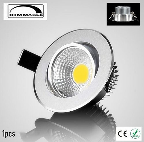 Dimmable Recessed LED Downlights 5W 7W 9W 12W COB LED Ceiling Spot Lights AC110-220V Warm Cold White LED Lamp Indoor Lighting